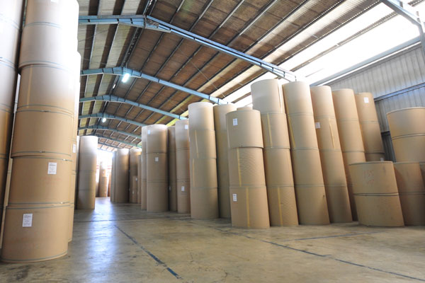 Home @ Paper Roll Warehouse In Manufacturing Plant
